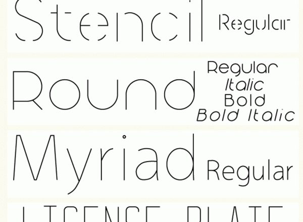Single line fonts kostenlos